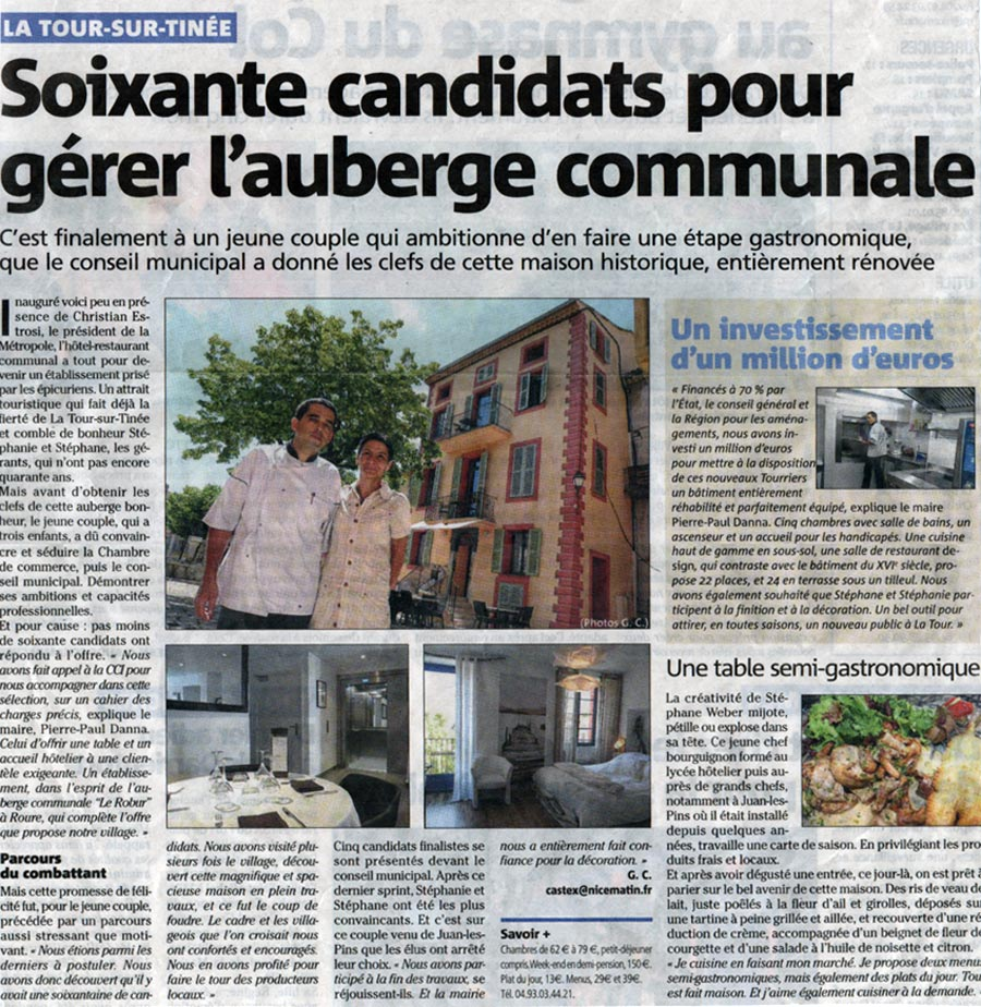 Revue de presse maison de la tour for Article de restaurant